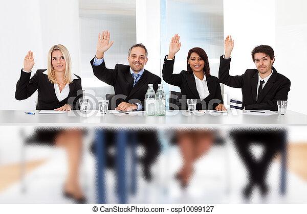vote, réunion, professionnels - csp10099127