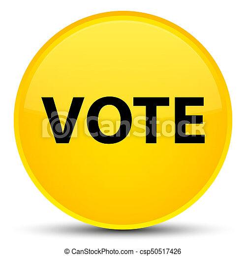 Vote special yellow round button - csp50517426