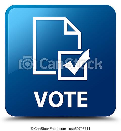 Vote Survey Icon Blue Square Button Vote Survey Icon Stock