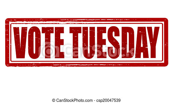 Vote Tuesday >> Vote Tuesday Stamp With Text Vote Tuesday Inside Vector Illustration