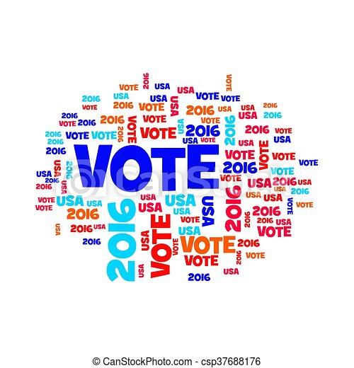 Vote USA 2016 - csp37688176