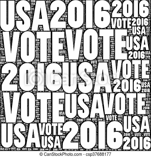 Vote USA 2016 - csp37688177