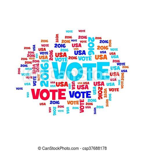 Vote USA 2016 - csp37688178