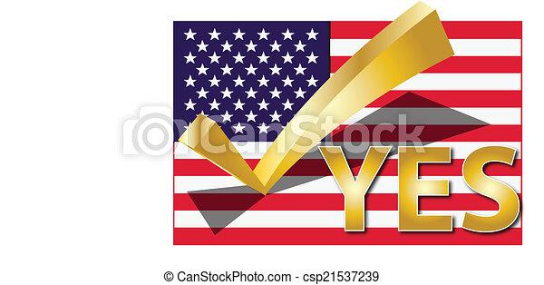 VOTE USA - csp21537239
