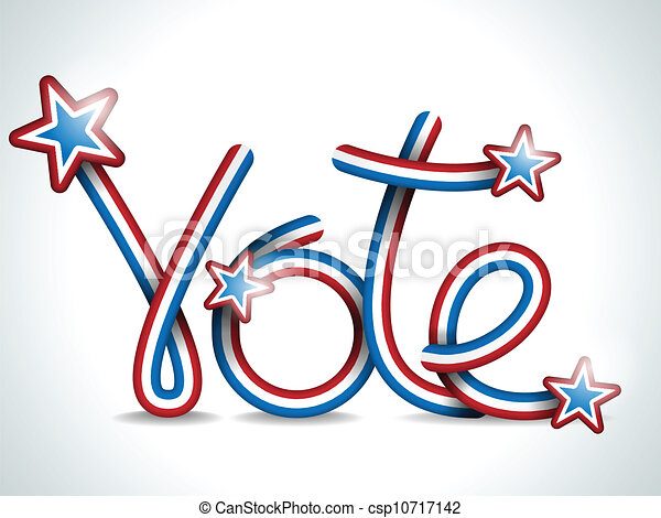 vector vote usa presidential election ribbon eps vector search rh canstockphoto ie happy election day clipart election day clipart