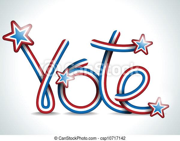 Vote USA Presidential Election Ribbon - csp10717142
