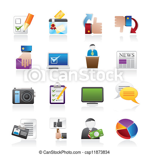 Voting and elections icons - csp11873834