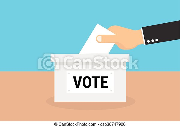 Voting concept in flat style, vector, eps10 - csp36747926