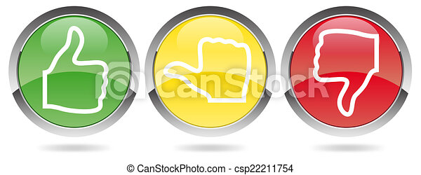 voting red-yellow-green - csp22211754