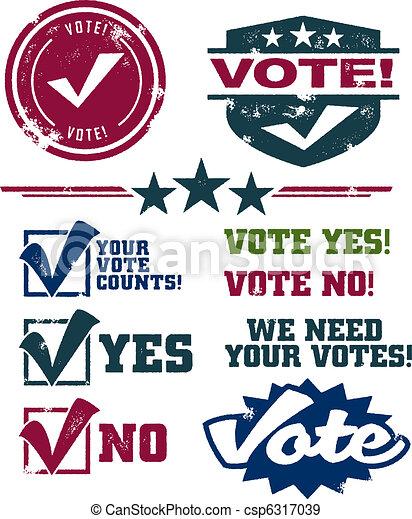 Voting Stamps - csp6317039