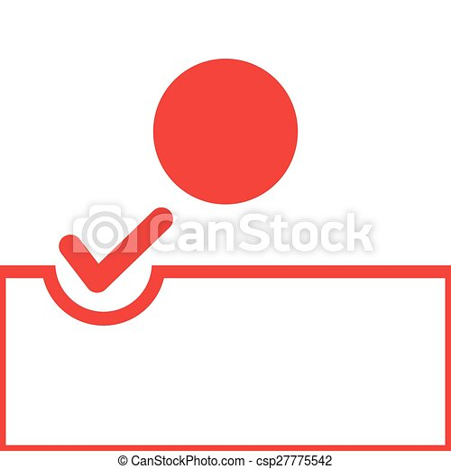 Voting Symbol Japan Flag Voting Symbol On Japan Flag Eps Vector
