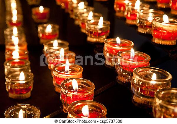 Votive Candles - csp5737580