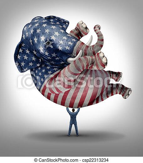 voto, americano, republicano - csp22313234