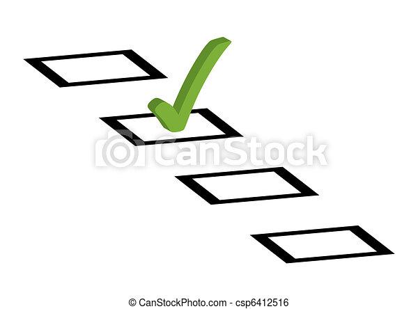 voto, carrapato - csp6412516