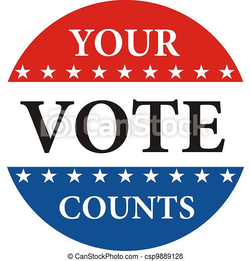 Tu voto cuenta - csp9889128