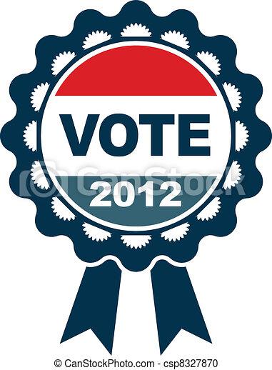 voto, emblema, 2012 - csp8327870