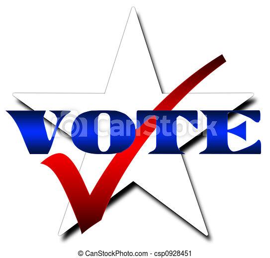 voto, estrella - csp0928451