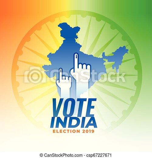 Vota por los antecedentes electorales de la India - csp67227671
