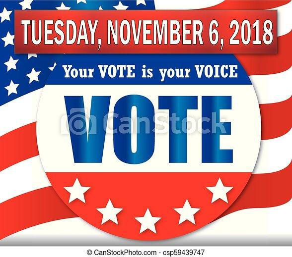 Vote el martes 6 de noviembre de 2018 - csp59439747