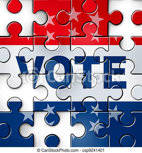 Problemas de voto de democracia - csp9241401