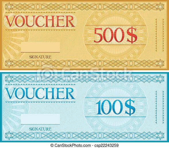 voucher design  - csp22243259