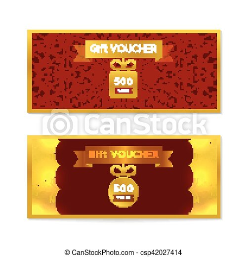 Voucher Gift Certificate And Coupon Template Floral Vector