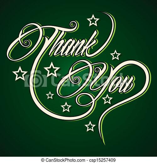 vous, créatif, remercier, salutation - csp15257409