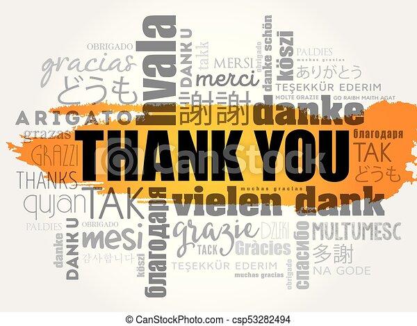 vous, mot, remercier, nuage - csp53282494