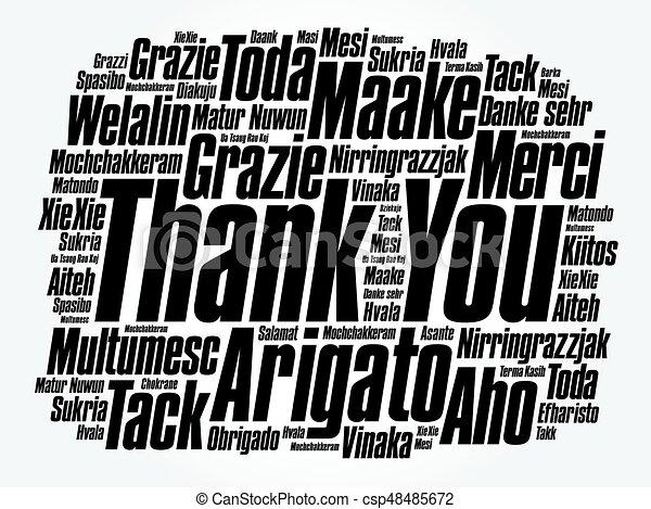 vous, mot, remercier, nuage - csp48485672