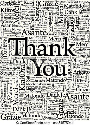 vous, mot, remercier, nuage - csp54575944