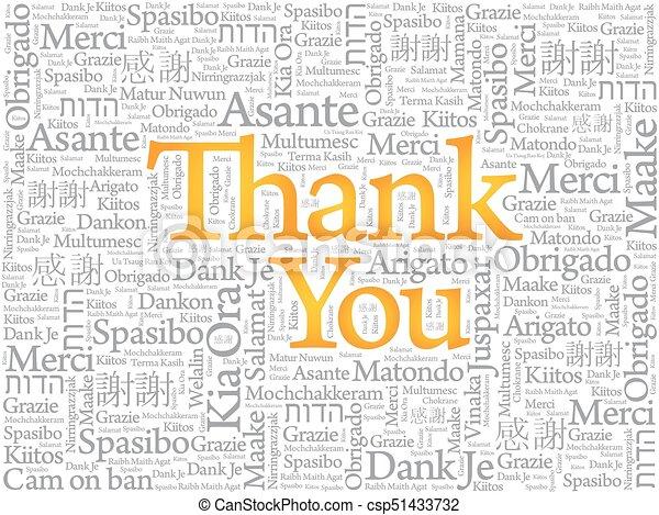 vous, mot, remercier, nuage - csp51433732