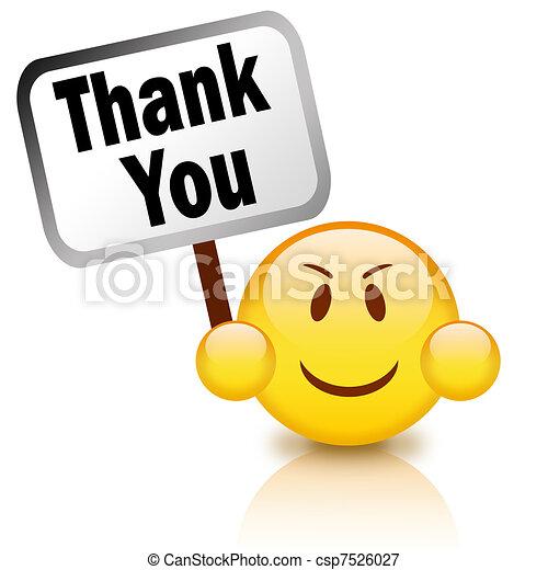 vous, remercier, signe - csp7526027