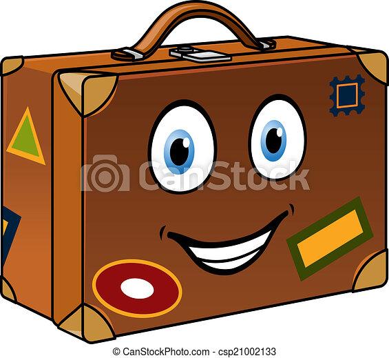 Voyag heureux puits dessin anim valise voyage - Dessin de valise ...