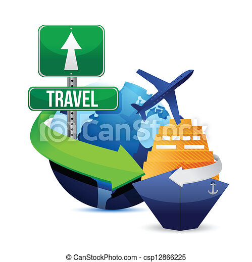 voyage, concept - csp12866225