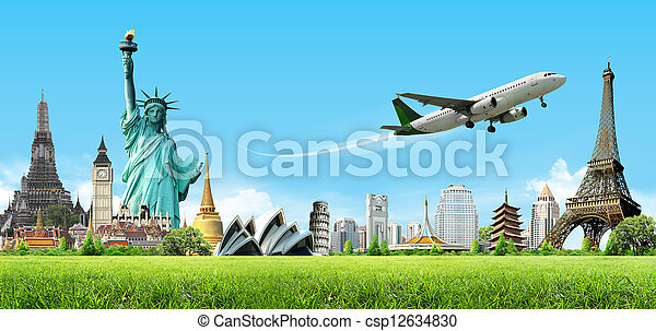 voyage, concept, mondiale - csp12634830