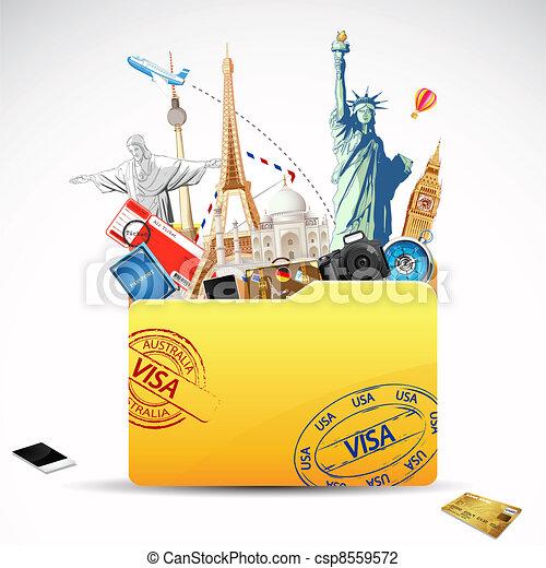 voyage, dossier - csp8559572