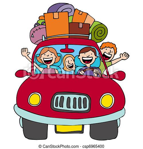 voyage, famille - csp6965400
