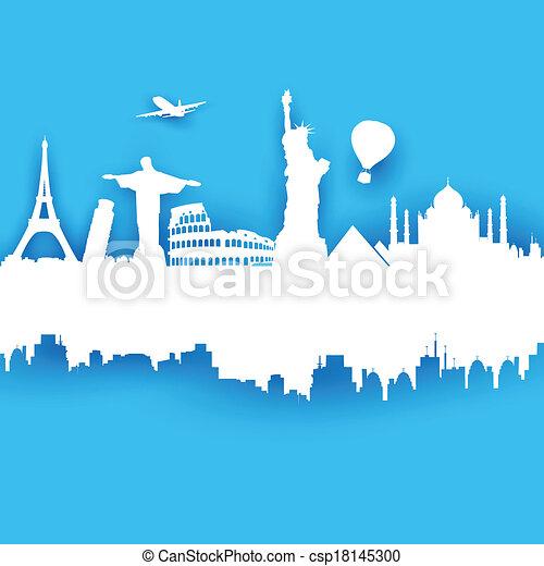 voyage, fond - csp18145300