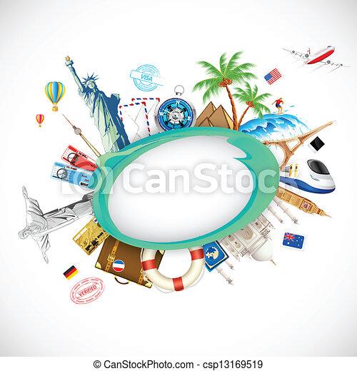 voyage, fond - csp13169519