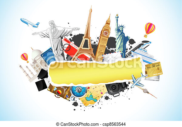 voyage, fond - csp8563544