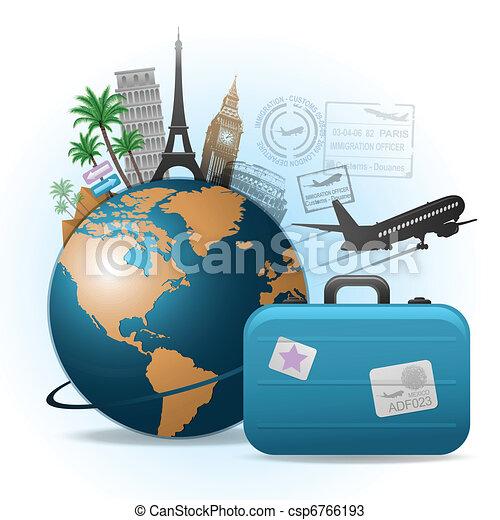 voyage, fond - csp6766193