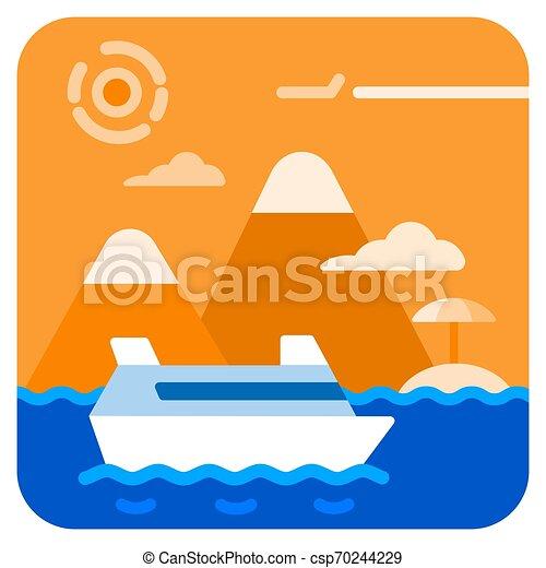 voyage, mer, croisière - csp70244229
