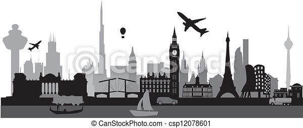 voyage mondial, autour de - csp12078601