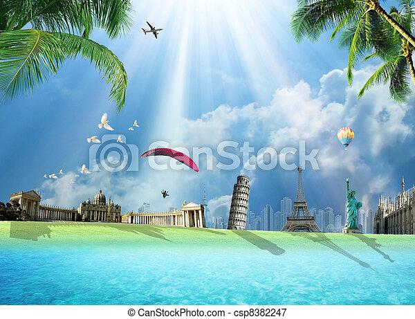 voyage mondial, autour de - csp8382247