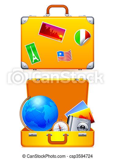 voyage, suitcase. - csp3594724