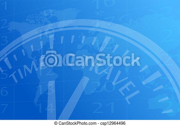 voyage temps - csp12964496