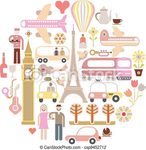 voyage, vecteur, -, illustration - csp9452712