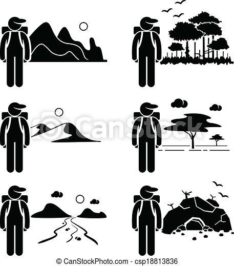 voyageur, explorateur, aventure - csp18813836