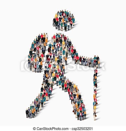 Voyageur forme gens quipent groupe illustration - Voyageur dessin ...