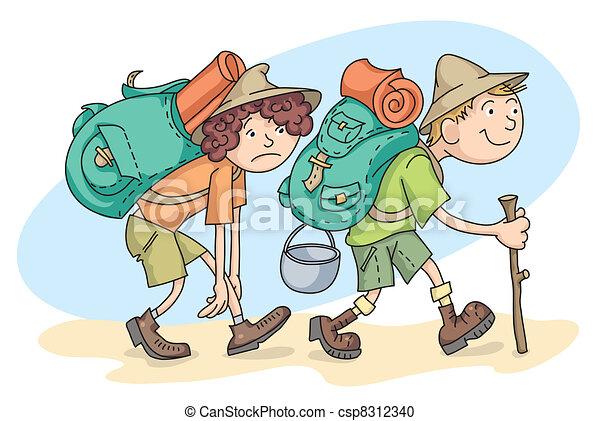 Voyageurs backpacks randonn e femme homme - Voyageur dessin ...